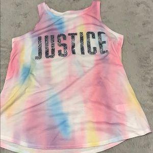 Justice tank top